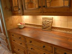 wood counter