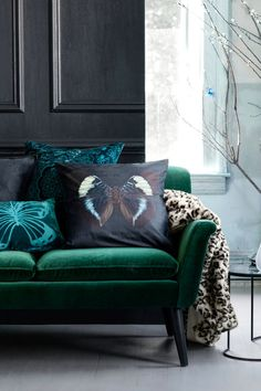 H&M Home Collection Autumn-love the color of the couch velevet oh please- let me curl up into you!