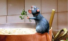 RATATOUILLE, a great film for the whole family about culinary creativity, no matter one's background (or size). Rent it, buy it - but be sure to see it!  http://disney.go.com/disneyvideos/animatedfilms/ratatouille/main.html