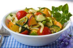 vegan gluten free summer pasta-less salad