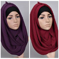 b64ad88421bc7 2017 high quality arab solid color women plain crinkle bubble chiffon  muslim hijab scarf shawl
