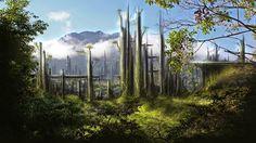 sci fi rain forest