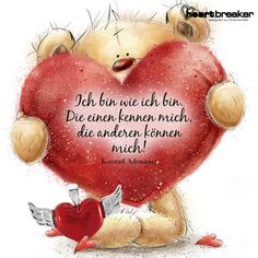 So bin ich Hugging Couple Drawing, Teddy Bear Pictures, German Quotes, Tatty Teddy, Its A Wonderful Life, Feeling Happy, Simple Living, Smiley, Picture Quotes