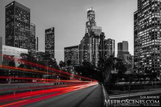 Black and White and Red Streaks Los Angeles