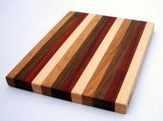 Maple Walnut Padauk and Cherry Edge Grain Wood Cutting Board by ScottBlocks, $36.00