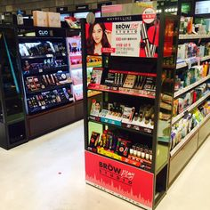 Pos Display, Display Design, Product Display, Gas Station, Beauty Shop, Maybelline, Merchandising Ideas, Kiosk, Pharmacy