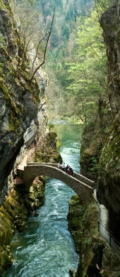 Gorges de l'Areuse in Switzerland •