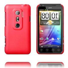 Hard Shell (Rød) HTC Evo 3D Deksel