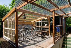 Bike Garage.....Ruth's Garden Cottages cohousing community by Communitecture and Orange Spot LLC