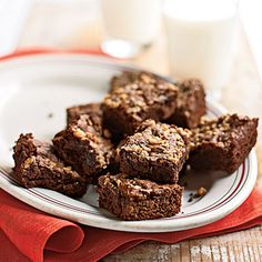Fudgy Mocha-Toffee Brownies - 100 Delicious Recipes for Chocolate Desserts - Cooking Light