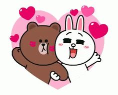 The perfect Brown Cony Cute Animated GIF for your conversation. Cute Love Lines, Line Love, Cute Love Gif, Cute Couple Cartoon, Cute Love Cartoons, Cute Bear Drawings, Cony Brown, Brown Bear, Chibi Cat