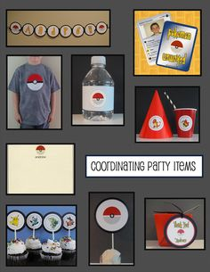POKEMON Printable Party Package - Full Service Printing Available. $34.99, via Etsy.