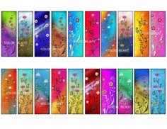 Floral Slides INSTANT DOWNLOAD  1x3 inch Collage Sheet.