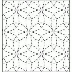 Pre-Stencilled Sampler - Floral pattern. indigoniche.com