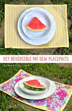 DIY Placemats : DIY Reversible No Sew Placemats