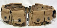 Original-Late-WWI-US-Dismounted-M1910-Ammunition-Web-Belt