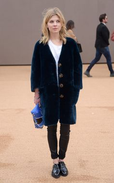Clemence Poesy Chooses Comfort at London Fashion Week - Fashionista