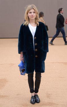 "insidefashionista: ""Clemence Poesy Chooses Comfort at London Fashion Week """