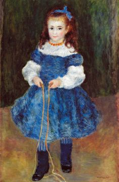 Pierre Auguste Renoir - Girl with a Jump Rope (Portrait of Delphine Legrand), 1876 at Barnes Foundation Philadelphia PA | Flickr - Photo Sharing!