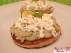 "Pancake citron vert, ""brandade"" à la coriandre, chantilly wasabi - SAVEUR PASSION"