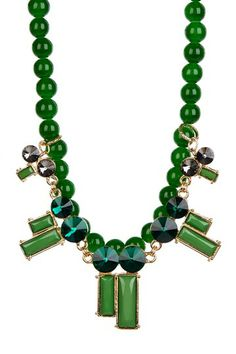 Emerald Luxe Two Layer Necklace by t+j Designs on @HauteLook