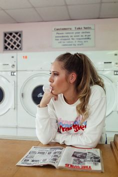 Easy Life Hacks For Wrinkled Clothes - 90's Style Hair Up Do Ponytail With Retro Slogan White Sweater