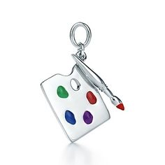 Paloma Picasso® painter's palette charm in sterling silver with enamel finish.