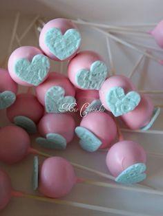 Pink Heart Cake Pops for Mom