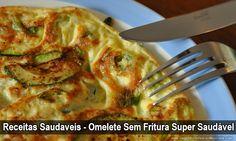 Receitas Saudaveis - Omelete Sem Fritura Super Saudável ➡ http://www.SegredoDefinicaoMuscular.com/receitas-saudaveis-omelete-sem-fritura-super-saudavel #receita #recipe