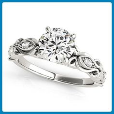 Unique Forever One Moissanite Engagement Ring 50669 - Wedding and engagement rings (*Amazon Partner-Link)