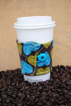 Coffee Cup Sleeve / ToGo cup Cozy by mybabybee on Etsy, $6.95