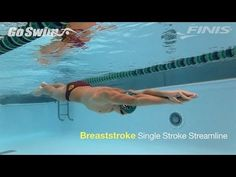 Breaststroke drill: look at the narrow kick. Knees almost stay together