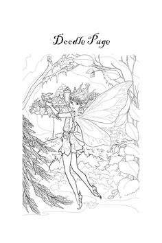 a doodle page from Fairies Rock The World Notebook [PDF copy] Doodle Pages, Love Fairy, Just Believe, Self Publishing, Notebooks, Fairies, Coloring Books, Doodles, Pdf