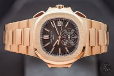 Patek Philippe introduced the Nautilus Chronograph 5980 in rose gold and gold/steel during Baselworld Fratellowatches talks about these new Nautilus watches. Patek Philippe, Live Picture, Nautilus, Gold Watch, Chronograph, Rose Gold, Watches, Bracelets, Accessories