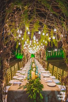 Wedding Decor - Rustic Green and Brown Wedding Dinner Decor   WedMeGood Picture By: The Wedding Salad Decor By: Atisuto Events #wedmegood #indianbride #indianwedding #decor #DIY #rustic