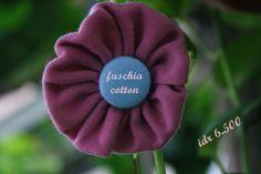 fuschia cotton brooch