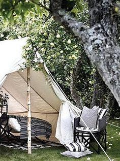 Lovely little glamping tent