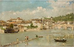 Artgate Fondazione Cariplo - Dall'Oca Bianca Angelo, Pescatori di sabbia o Verona - Angelo Dall'Oca Bianca - Wikipedia
