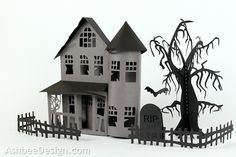 Ashbee Design Silhouette Projects: Ledge Village Haunted Mansion and Tower House Tutorial