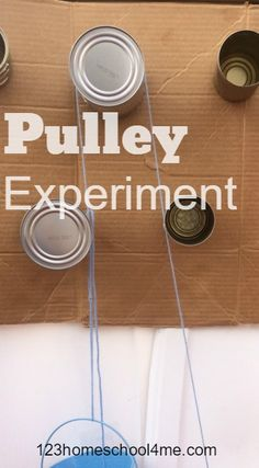 Pulley Science Experiment to help kids learn about simple machines - great for science fair project for kindergarten, first grade, 2nd grade, 3rd grade, 4th grade, 5th grade, homeschool, summer learning, and more.