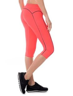 Buy Women's Knee Tight Yoga Running Workout Sports Capri Leggings Pants - Orange - and Find More Women's Sports Pants enjoy up to off. Women's Sports Leggings, Legging Sport, Running Leggings, Sport Pants, Workout Leggings, Leggings Are Not Pants, Push Up Workout, Workout Tank Tops, Workout Plans