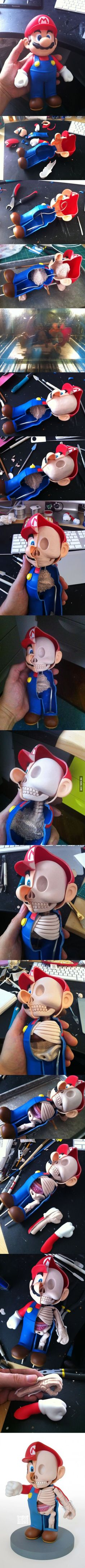 Dissection of Mario by artist Jason Freeny This is so awesome!!!!