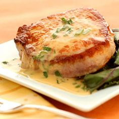 """25-Minute Pork Diane Recipe calls for Worcestershire sauce for """"chicken"""" Should read for Pork chop."""