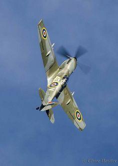 Spitfire avec le bout des ailes coupés pour mieux virer