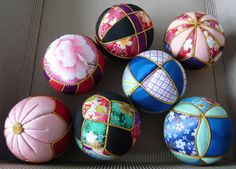 Kimekomi...fabric ornaments. Easy and fun to make. Great wedding gifts ideas for the guest. Takes about 10-20 minutes to make depending on the design.