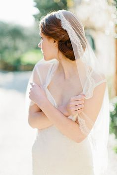 French Chantilly Lace Mantilla Bridal Veil  Style by sibodesigns, $320.00