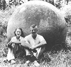 Circa 1930s. Workmen hacking through Costa Rican jungle to clear an area for banana plantations found dozens of perfectly spherical stone balls. The stones varied from tennis ball size to 8 feet in diameter & weighing 16 tons. The balls are man-made; yet, it is unknown who made them, and why, and how they achieved such spherical precision.