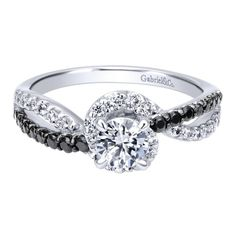 The black diamond engagement ring. This black sapphire ring is a favorite of ours at Gabriel & Co.