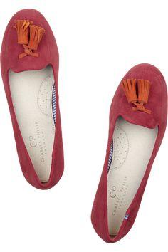 Charles Philip Shanghai | Tasseled suede slippers | NET-A-PORTER.COM