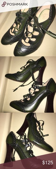Tory Burch   Green Astrid Pump  $395 size 6.5 These are excellent condition- actual item pics 2-8  Buy Tory Burch Women's Green Astrid Pump, starting at $395 these are ROBIN GREEN- 5.5 inch heel - no box no dust bag - hardly worn- Tory Burch Shoes